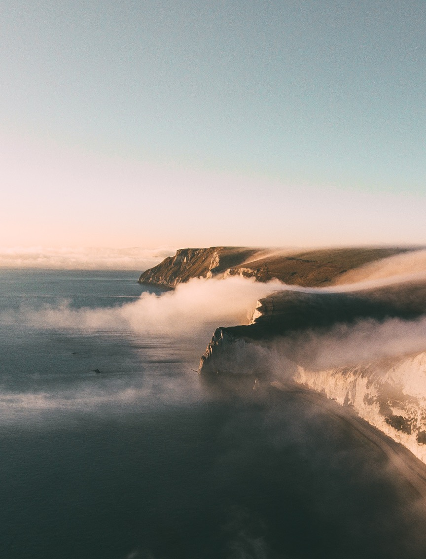 Jurassic Coast in the fog. Image: Arran Witheford.