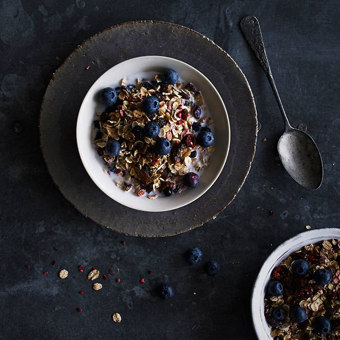 Dust? That's for country walks, not cereals. So we don't scrimp – we fill ours with a lovely balance of the best possible flakes, fruit, nuts and seeds.