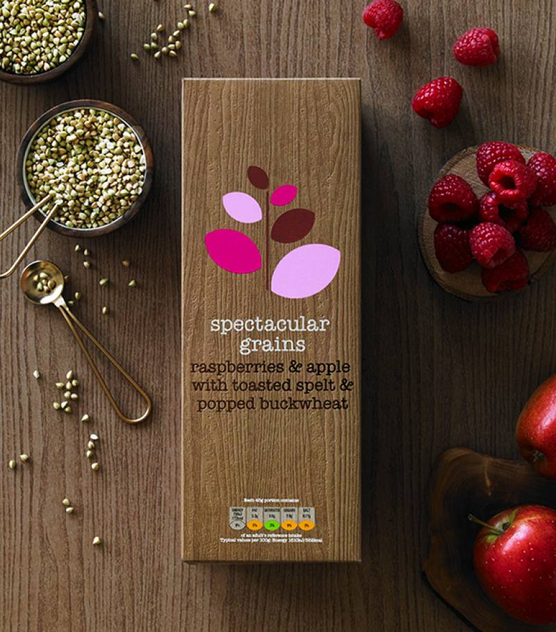 spectacular grains – raspberries & apple