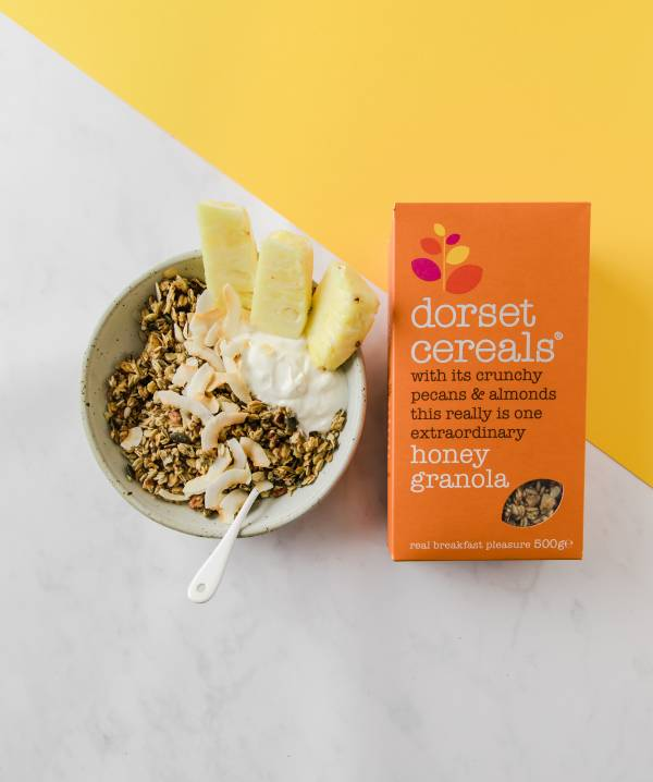 Honey Granola with pineapple and coconut