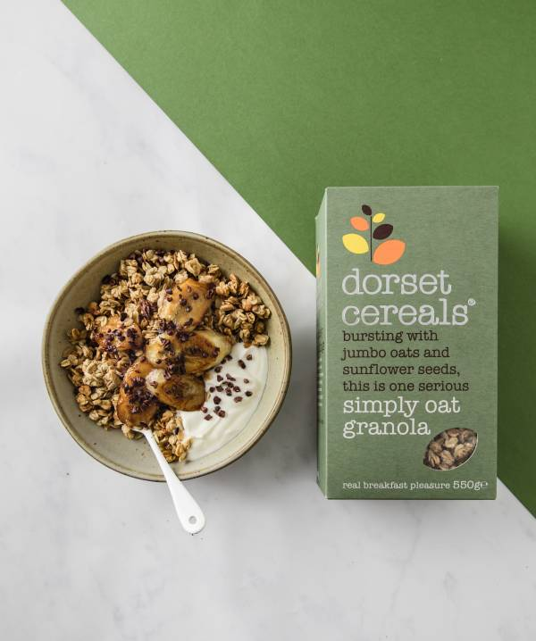 Simply Oat granola with cooked banana