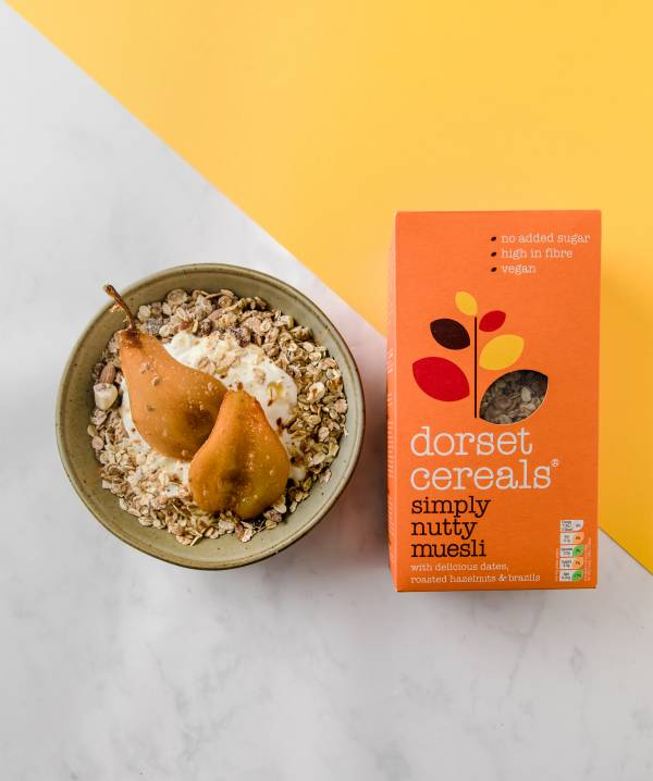 Simply Nutty muesli with vanilla pears