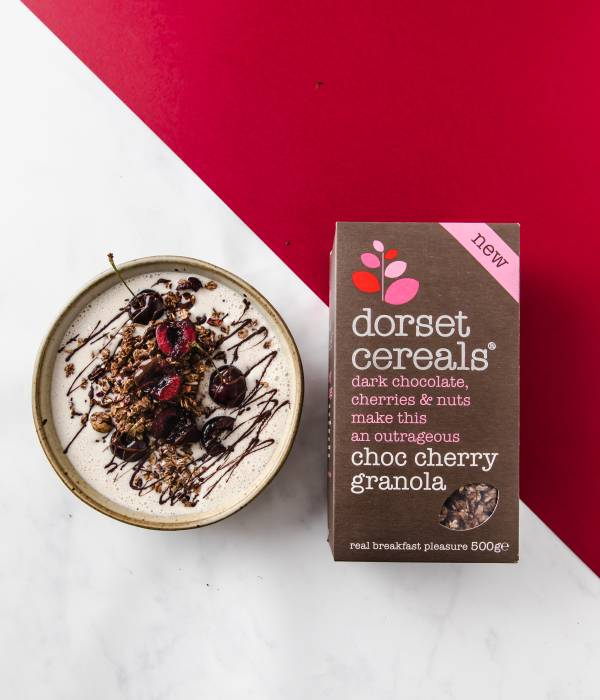 Choc Cherry Granola Smoothie Bowl